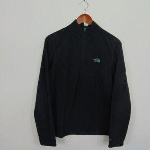 North Face L 1/4 Zip Pullover Fleece Jacket Black